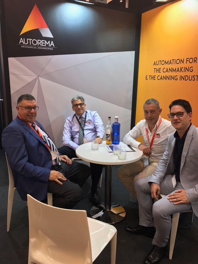 Socios Autorema y posibles clientes en Metpack 2017